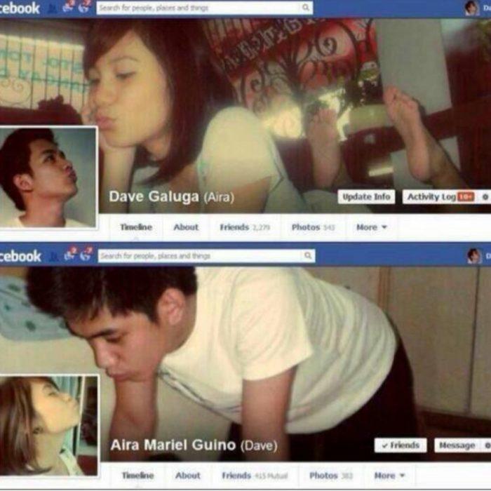 Facebook en San Valentín