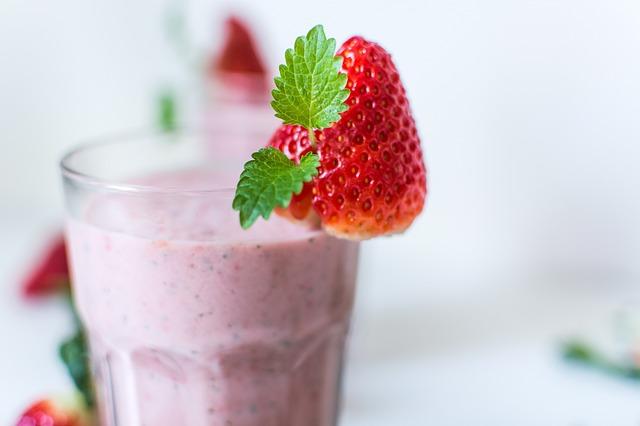 Smoothie de fresa para acelerar el metabolismo