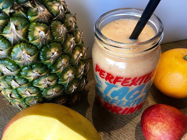Smoothie de frutas para acelerar el metabolismo